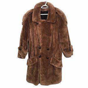 Zuki Canada Sheared Beaver Cashmere Fur Coat